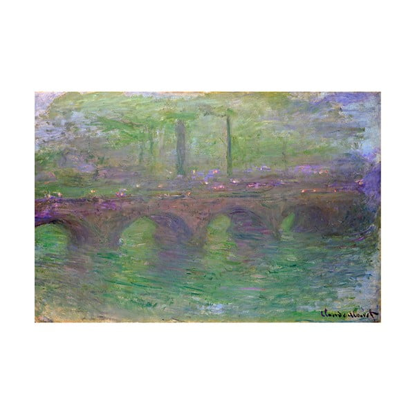 Obraz Claude Monet - Waterloo Bridge, 90x60 cm