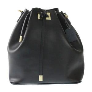 Čierna kožená taška Erica