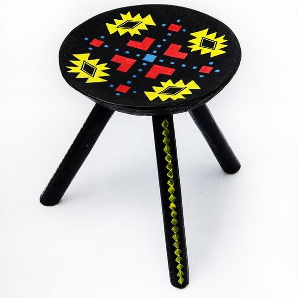 Ručne maľovaná stolička Ludos, 38 cm