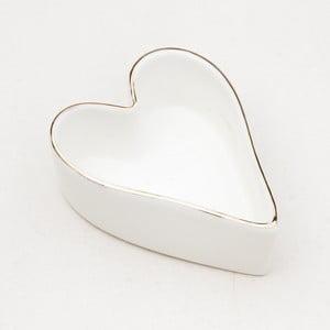 Biela keramická mísa v tvare srdce Caroline Gardner