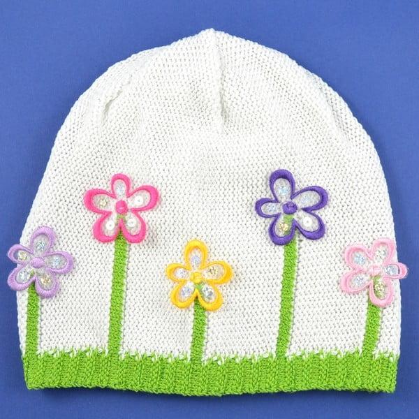 Dievčenská čapica Lacka, biela