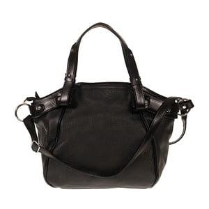 Čierna kožená kabelka Giulia Bags Calista
