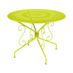 Limetkovozelený kovový stôl Fermob Montmartre, Ø96cm