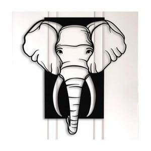 Čierna kovová nástenná dekorácia Elephant