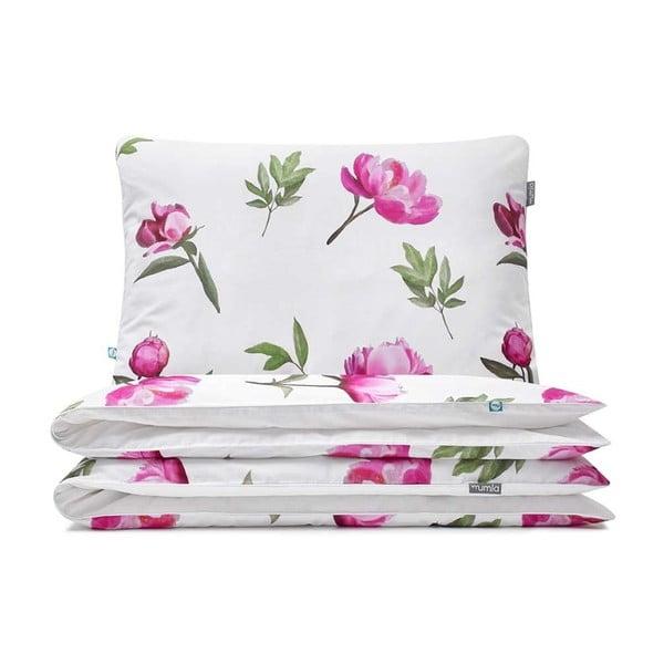 Bavlnené posteľné obliečky Mumla Peonies, 140×200 cm