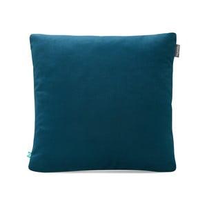 Modrá obliečka na vankúš Mumla Velour, 45 × 45 cm