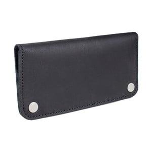 Čierna kožená peňaženka Woox Triviala Ater