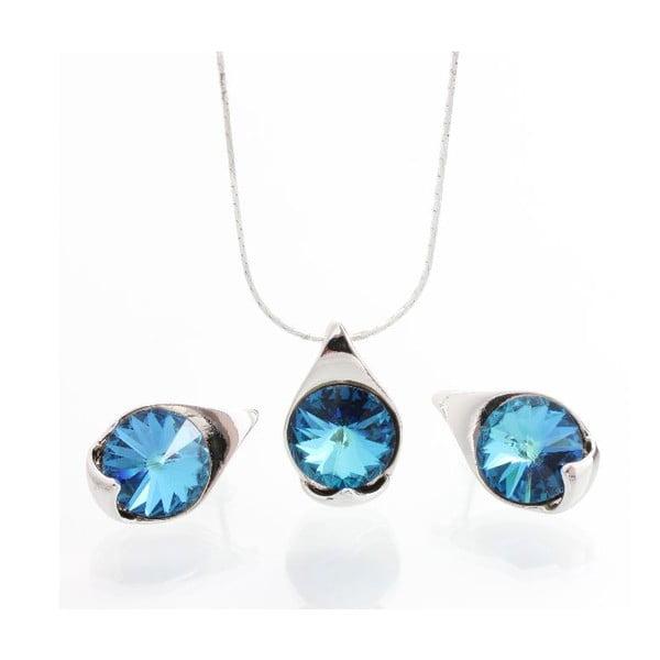 Set náhrdelníka a náušníc Laura Bruni Bermuda Blue