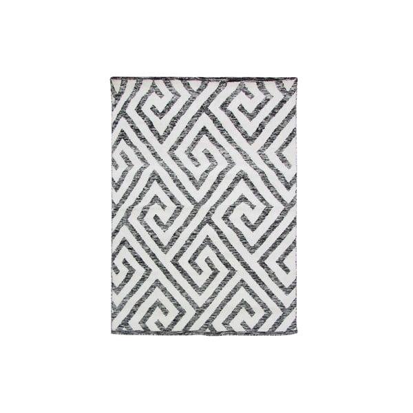 Ručne tkaný koberec Kilim Design 69 Black/White, 160x230 cm