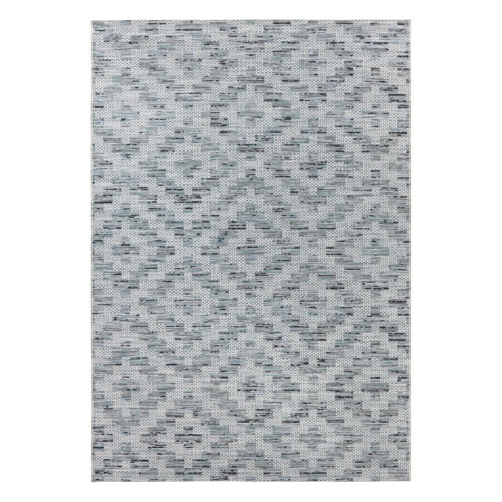 Modro-sivý koberec Elle Decor Curious Creil, 77 × 150 cm