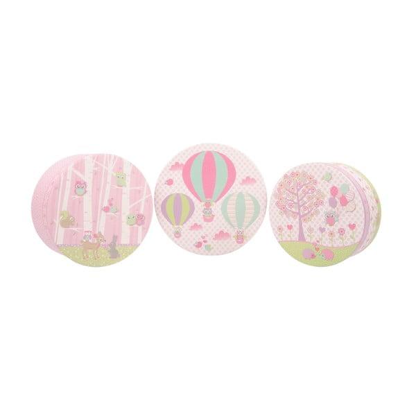 Sada 3 úložných krabíc Baloons