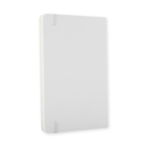 Biely zápisník Moleskine Hard, malý, štvorčekový