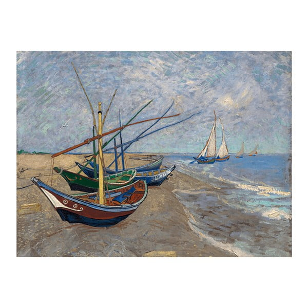 Obraz Vincenta van Gogha - Fishing Boats on the Beach at Les Saintes-Maries-de la Mer, 60x45