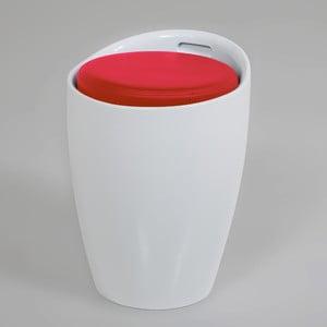 Bielo-červená stolička s úložným priestorom Actona Minxie