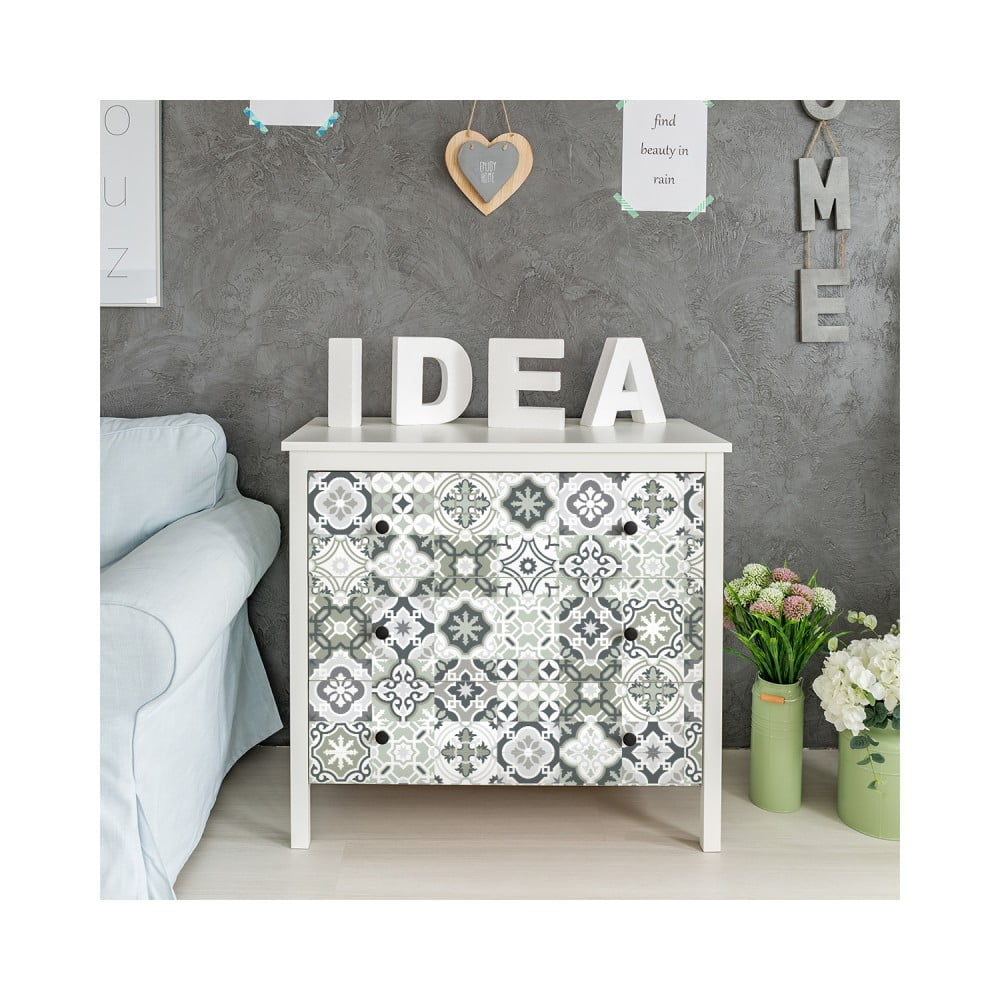 Sada 30 samolepiek na nábytok Ambiance Tiles Stickers For Furniture Evelyna, 20 × 20 cm