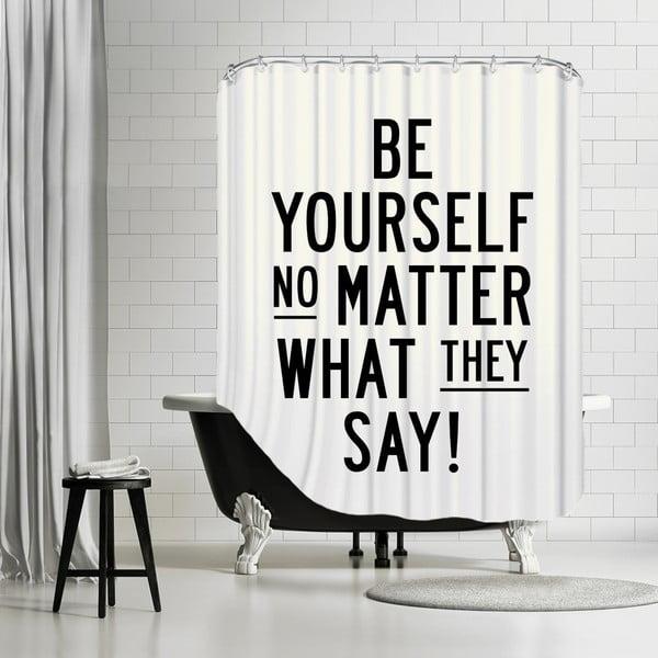 Kúpeľňový záves Be Yourself, 180x180 cm