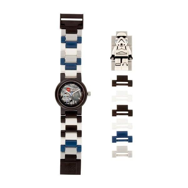 Čierno-biele hodinky LEGO® Star Wars Stormtrooper