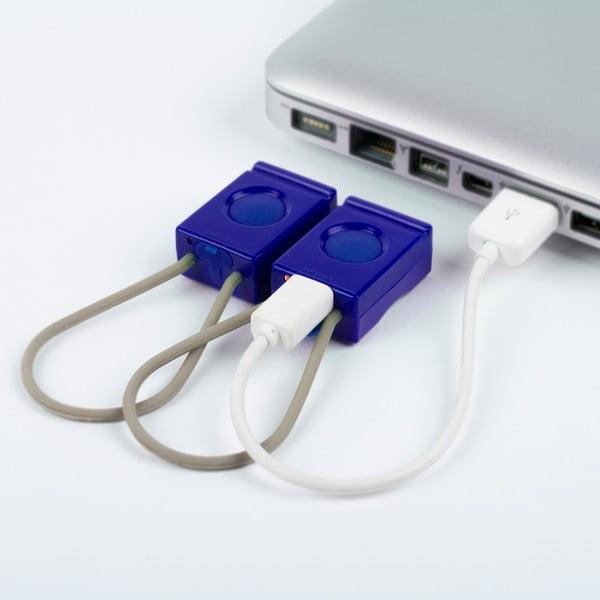 Modrá USB blikačka Bookman