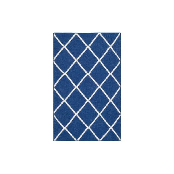 Vlnený koberec Fes 76x243 cm, modrý