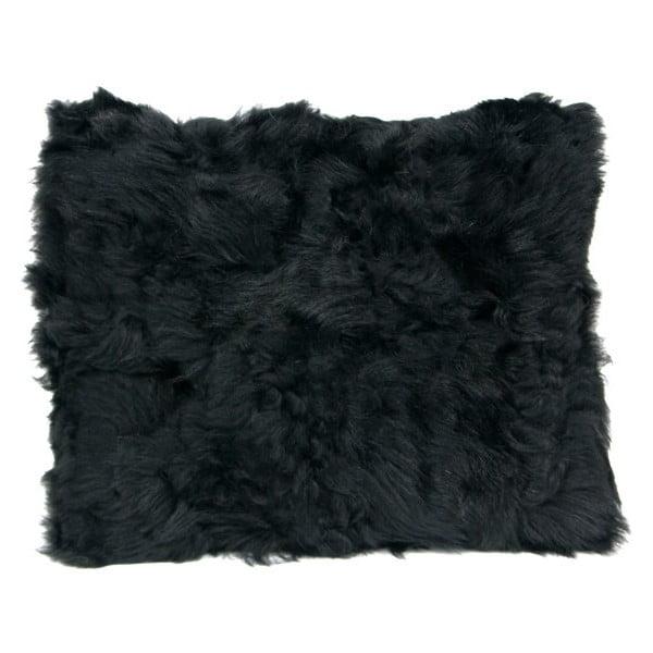 Kožušinový vankúš 40x50 cm, čierny