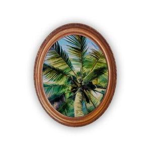 Oválný nástenný obraz Velvet Atelier Palm Tree