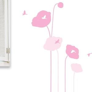 Samolepka MaDéco Pink Poppy Flowers