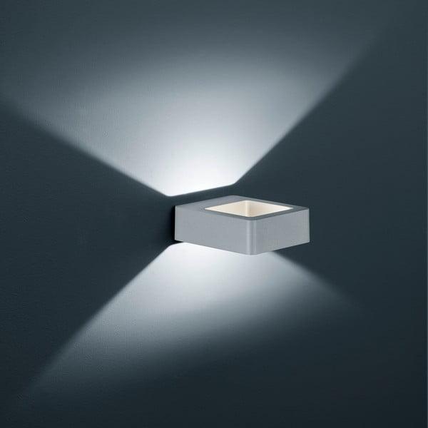 Záhradné nástenné svetlo Reno Titanium, 12 cm