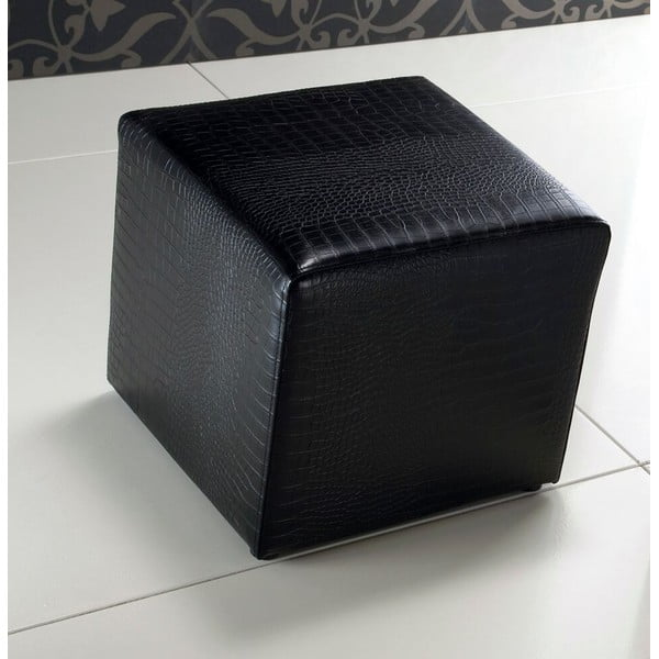 Čierny sedací puf Tomasucci Space