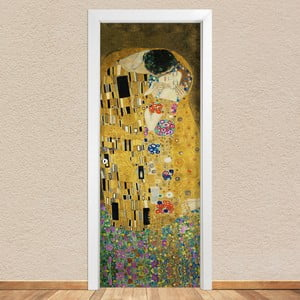 Samolepka na dvere LineArtistica Bacio Klimt, 80×215 cm