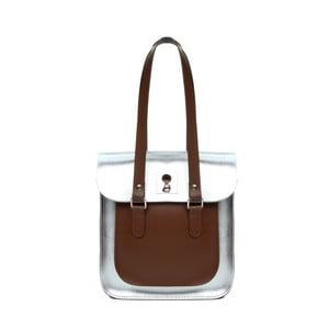 Kožená kabelka Rosemont Royal Silver/Chestnut