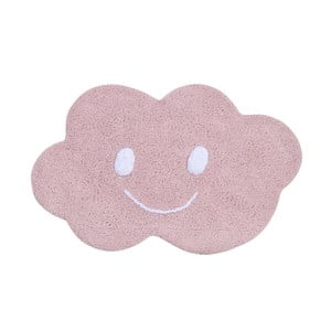 Ružový bavlnený koberec Happy Decor Kids Cloud, 75x115cm