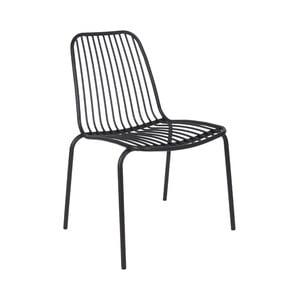 Čierna stolička vhodná do exteriéru Leitmotiv Lineate
