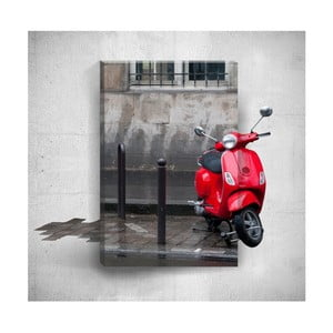 Nástenný 3D obraz Mosticx Red Scooter, 40×60 cm