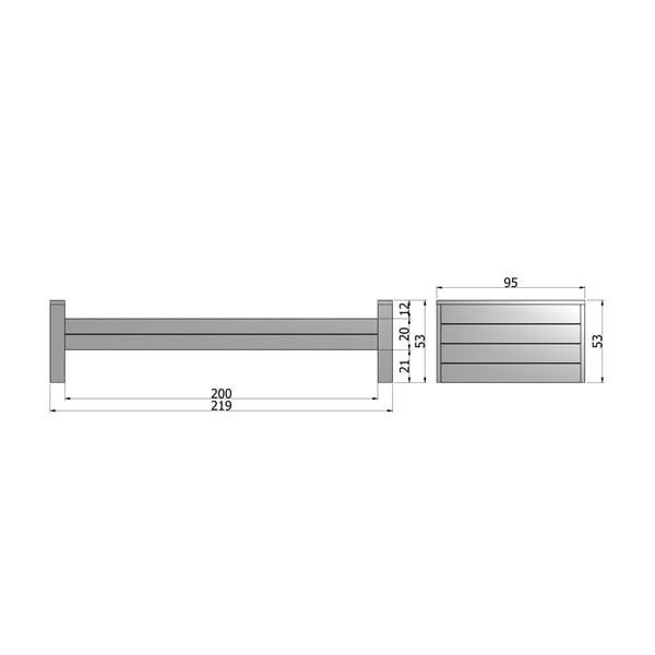 Sivá posteľ DeEekhoorn Dennis 90x200cm