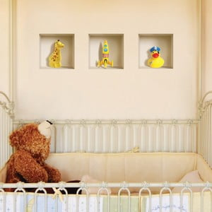 3D samolepky na stenu Nisha Yellow Dake