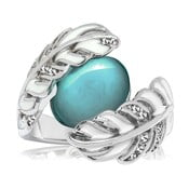 Postriebrený prsteň s krištáľmi Swarovski Saint Francis Crystals Libertad, veľ. 56