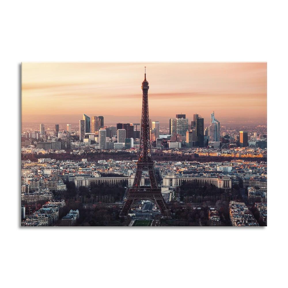Obraz Styler Glas Destination Eiffel Tower, 80 × 120 cm