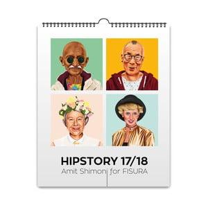 Nástenný závesný kalendár Fisura Hipstory