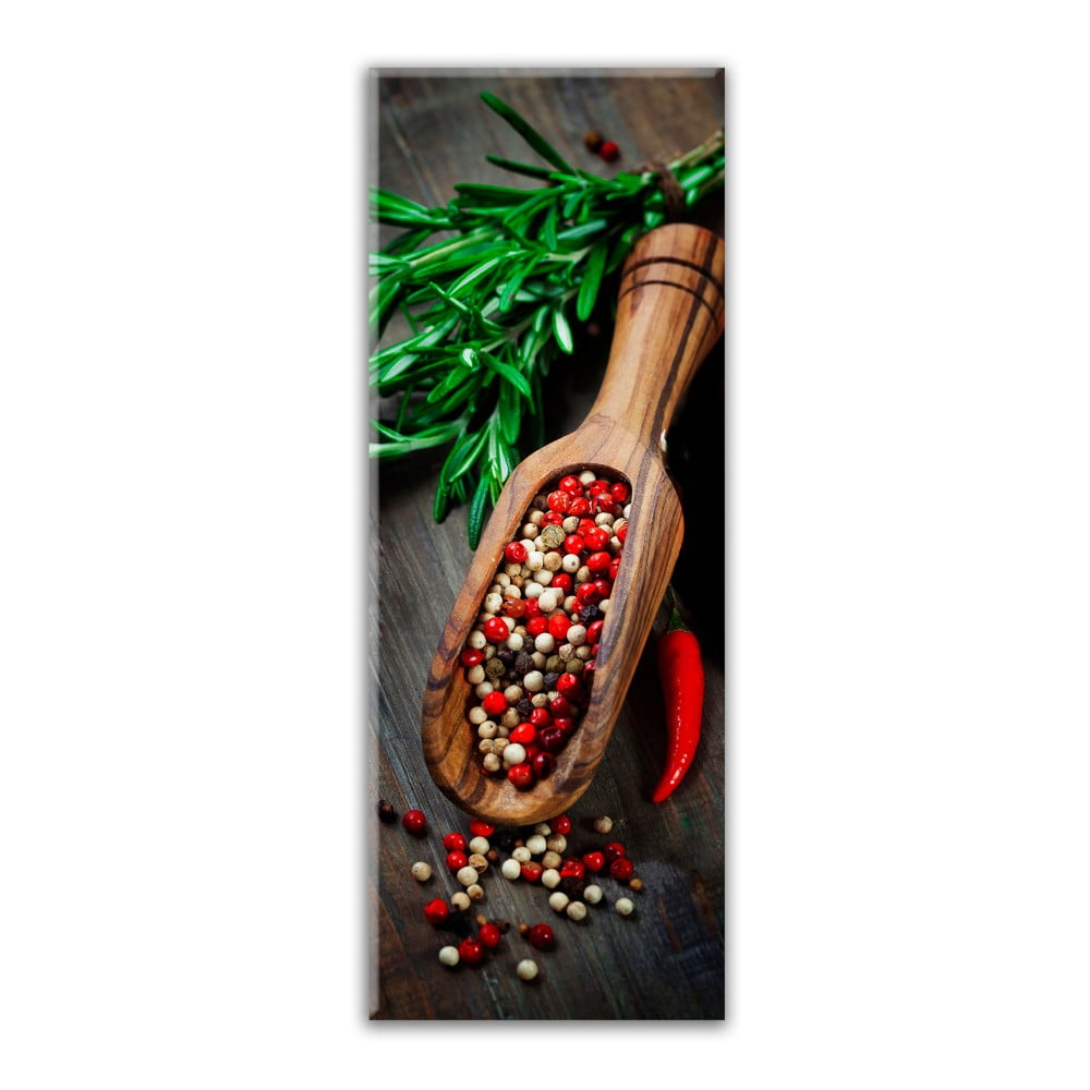 Obraz Styler Glasspik Kitchen Pepper Spoon, 30 × 80 cm