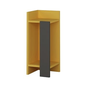 Žltý nočný stolík Homitis Samantha