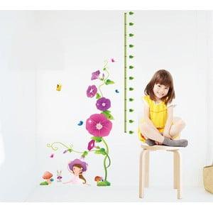Samolepka s metrom Fanastick Purple Flowers and Mushroom