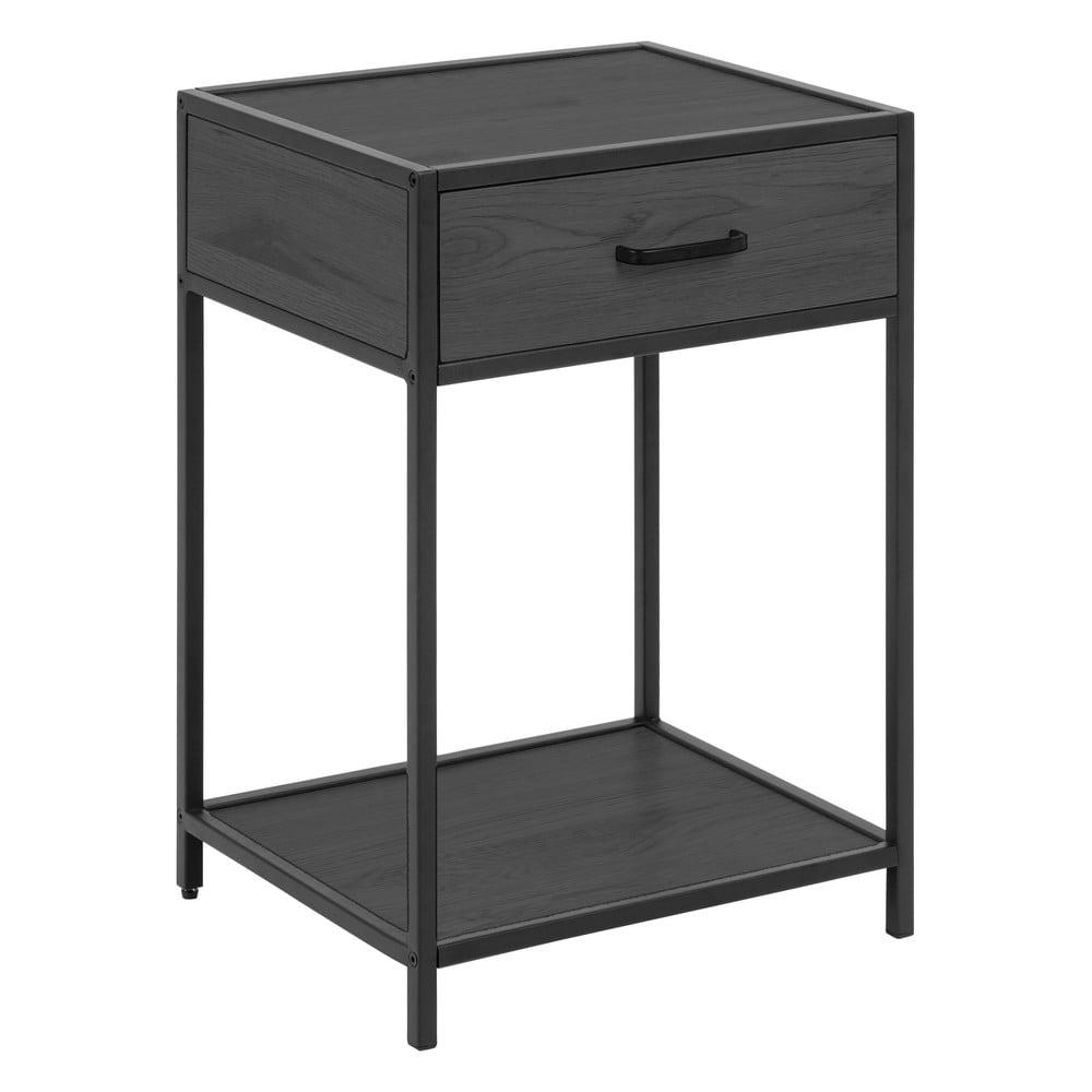 Čierny nočný stolík Actona Seaford, 42 x 35 cm