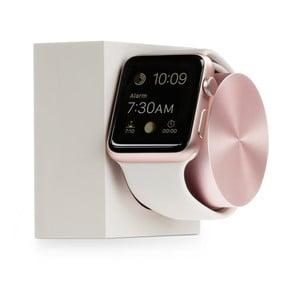 Bielo-ružový mramorový nabíjací stojan pre Apple Watch Native Union Dock