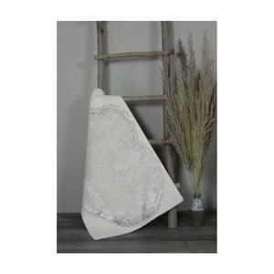Krémová bavlnená kúpeľnová predložka My Home Plus Spa, 60×90 cm