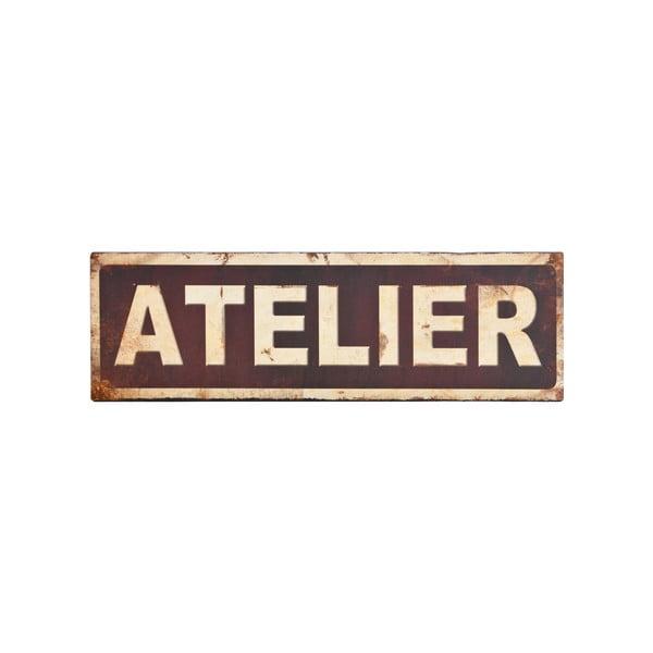 Kovová ceduľa Antic Line Atelier, 35x11 cm