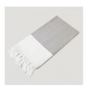 Hammam osuška Bath Style Brown & White, 100x180 cm