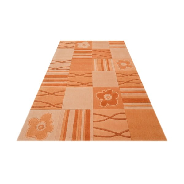 Ručne tkaný koberec Calypso, 70x140 cm, vanilkový
