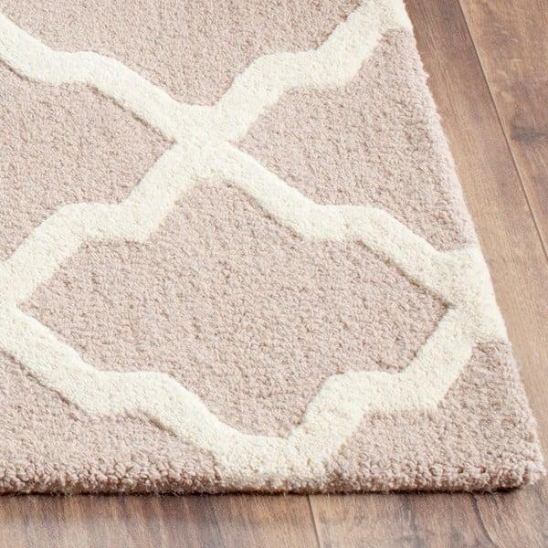 Vlnený koberec Ava Beige, 91x152 cm