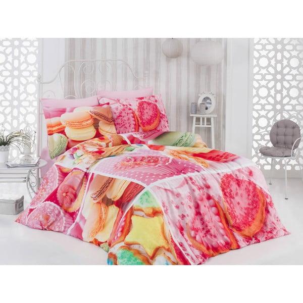 Bavlnené obliečky s plachtou a 2 obliečkami na vankúš Cookie, 200×220cm