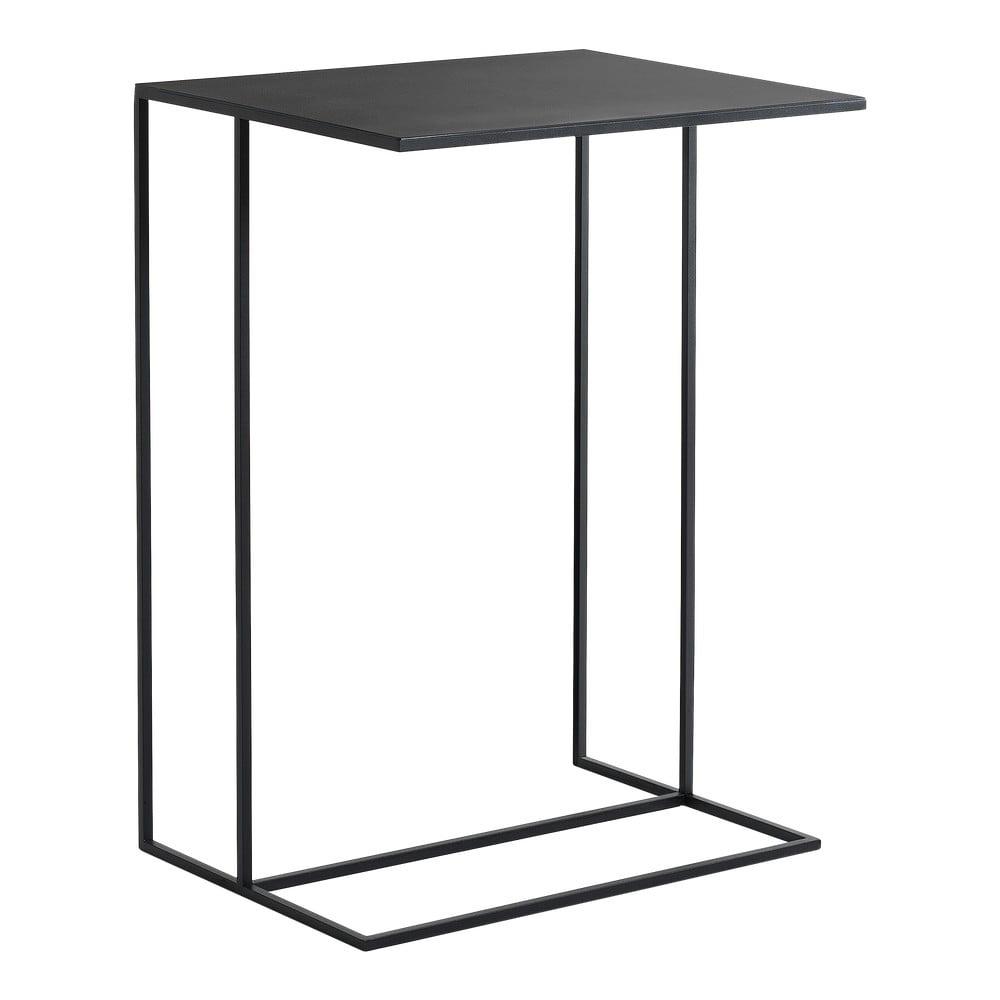 Čierny kovový odkladací stolík Custom Form